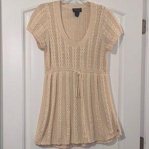 Polo by Ralph Lauren, cream knit sweater dress xl